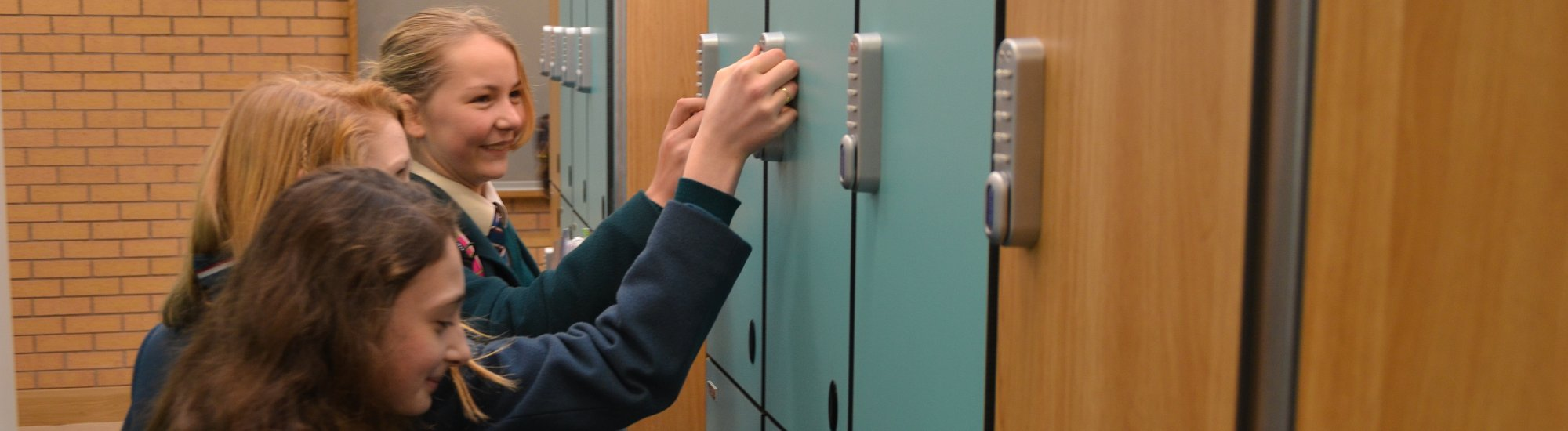 Pupils at lockers